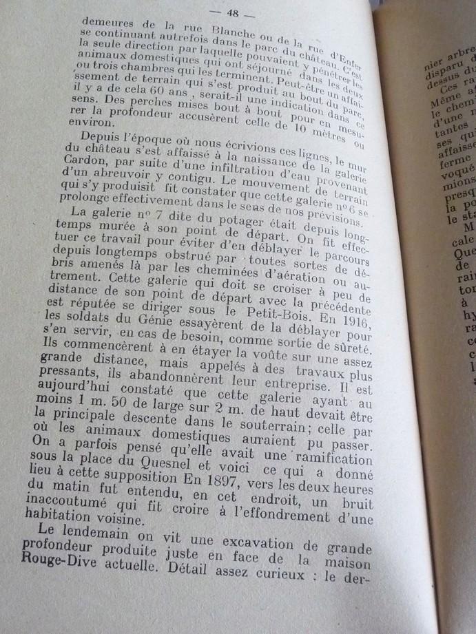 Les sous terrains  refuges de Le Quesnel (souterrains) P1200364