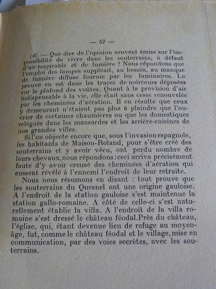 Les sous terrains  refuges de Le Quesnel (souterrains) P1200410