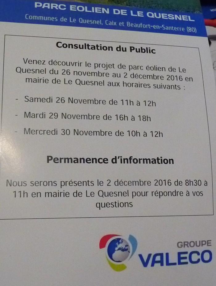PARC ÉOLIEN de LE QUESNEL : consultation du public Yolien10