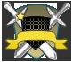 Escudos de rango azul y bronce 1013