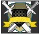 Escudos de rango azul y bronce 1115