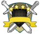 Escudos de rango azul y bronce 617