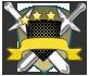Escudos de rango azul y bronce 717