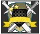 Escudos de rango azul y bronce 818
