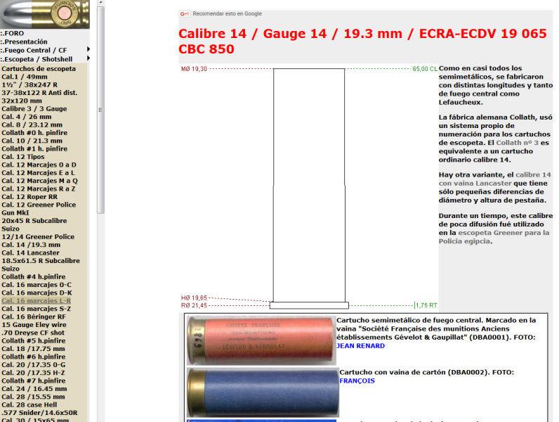 Différence entre la cartouche de chasse calbre 14 et celle du calibbre 28 Cal_1410