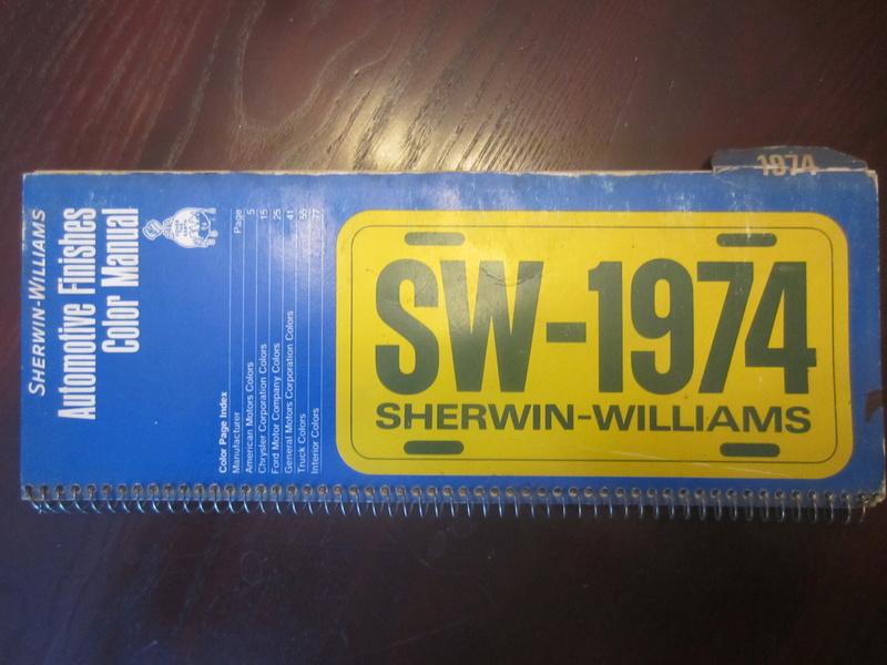 Recherche: Sherwin-Williams Color Manual Img_9010