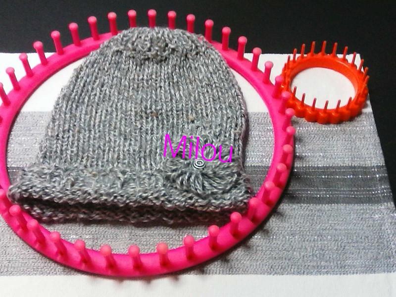 Tricotin Géant à 41 picots : bonnet enfant  Img09012