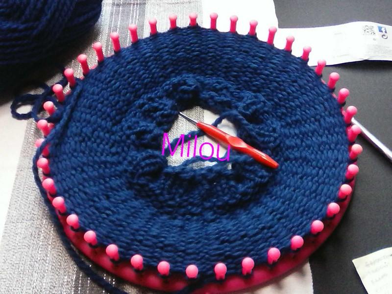 Tricotin Géant 41 picots: bonnet pour Milou Img09114