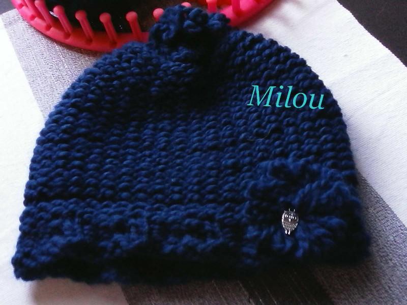 Tricotin Géant 41 picots: bonnet pour Milou Img09116