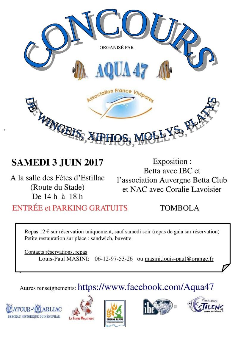 3éme concours et bourse de l' Aqua47 Affich10