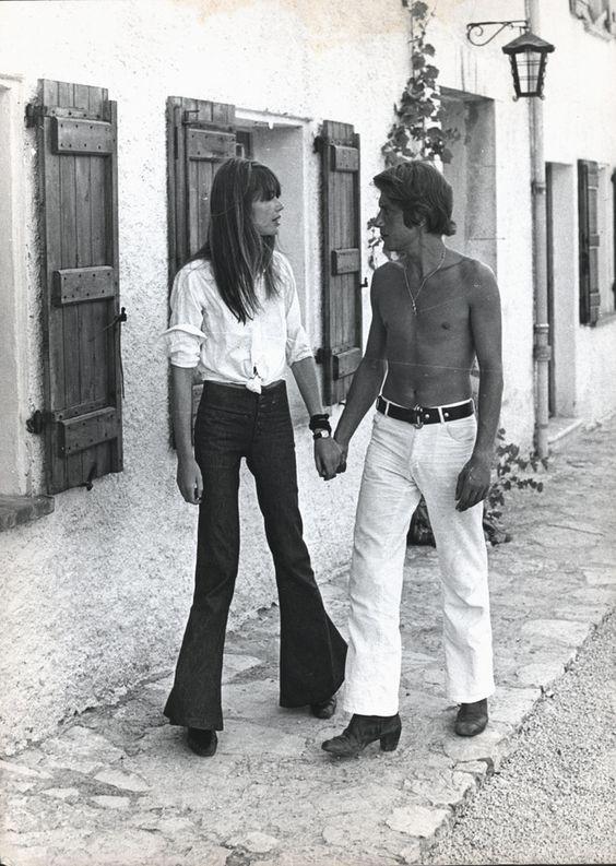 1970 - Françoise Hardy et Jacques Dutronc à Port Grimaud 93b00210