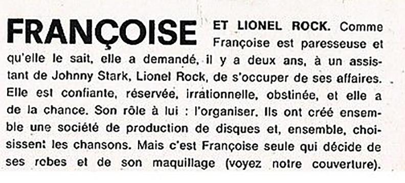 1969 - Françoise Hardy et Lionel Roc Reoc11
