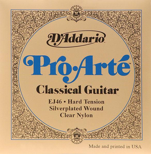 cordes guitare d'addario pro arte