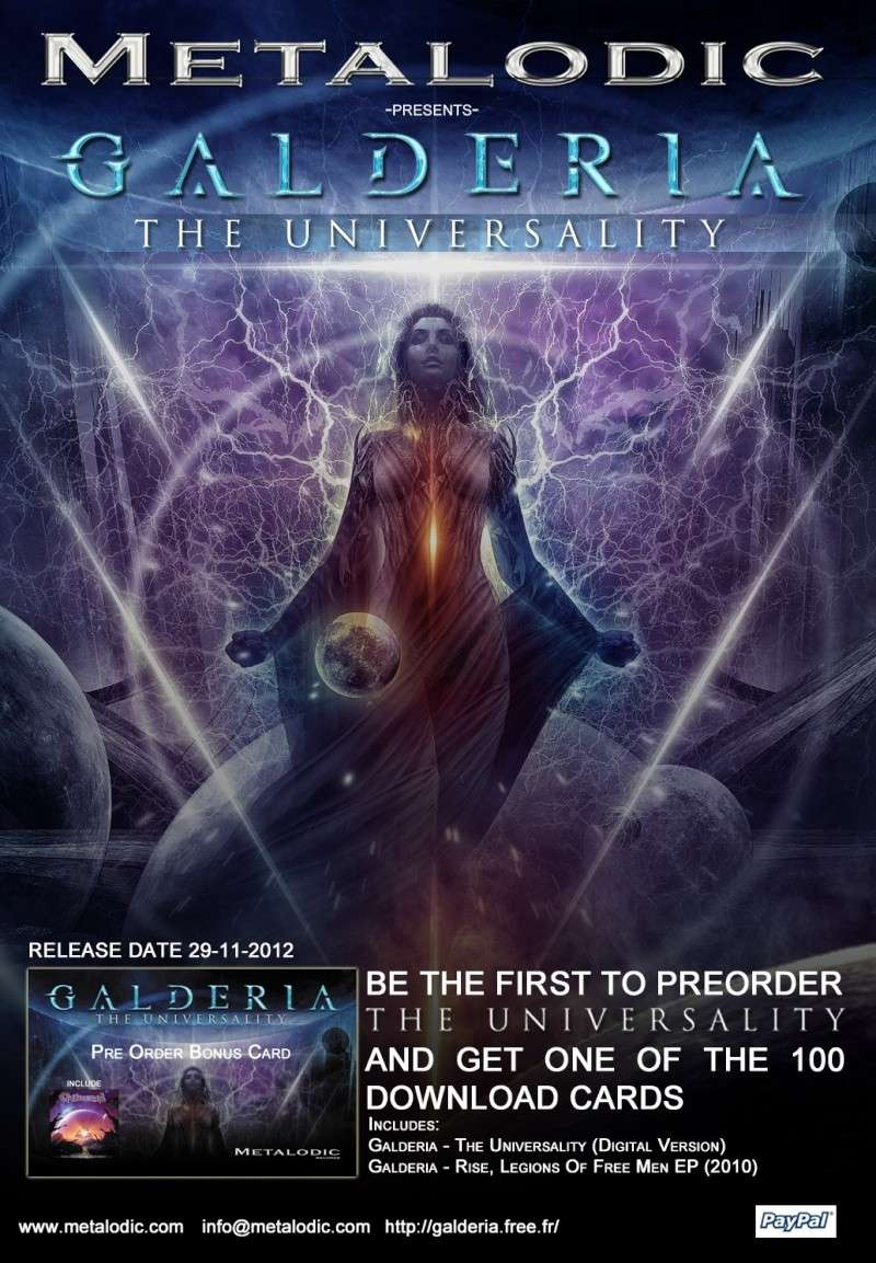 GALDERIA - Album : THE UNIVERSALITY Preord15