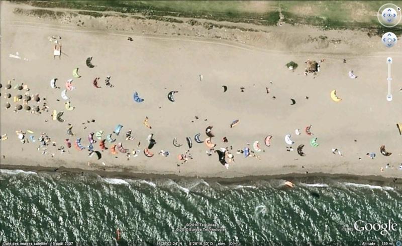 Cerf-volants et Kite Surf sur Google Earth Cerfvo10
