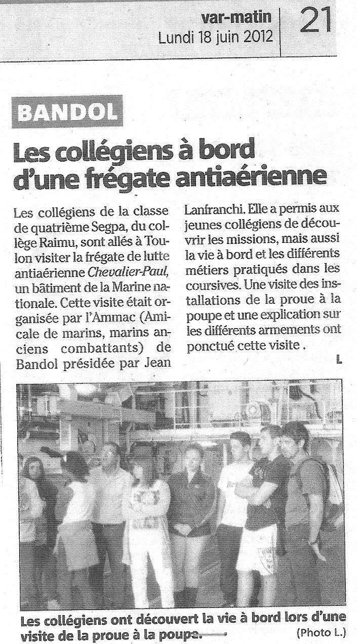 [ Associations anciens Marins ] L'AMMAC et l'Education Nationale Ammac10