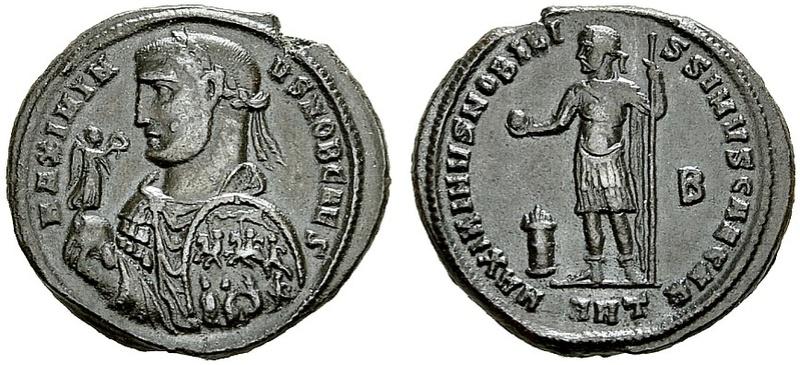 "Identification ""moyen bronze"" de Maximin II Daia Follis10"