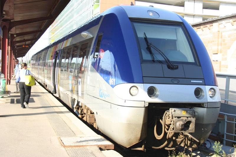 La gare de Strasbourg Agc110