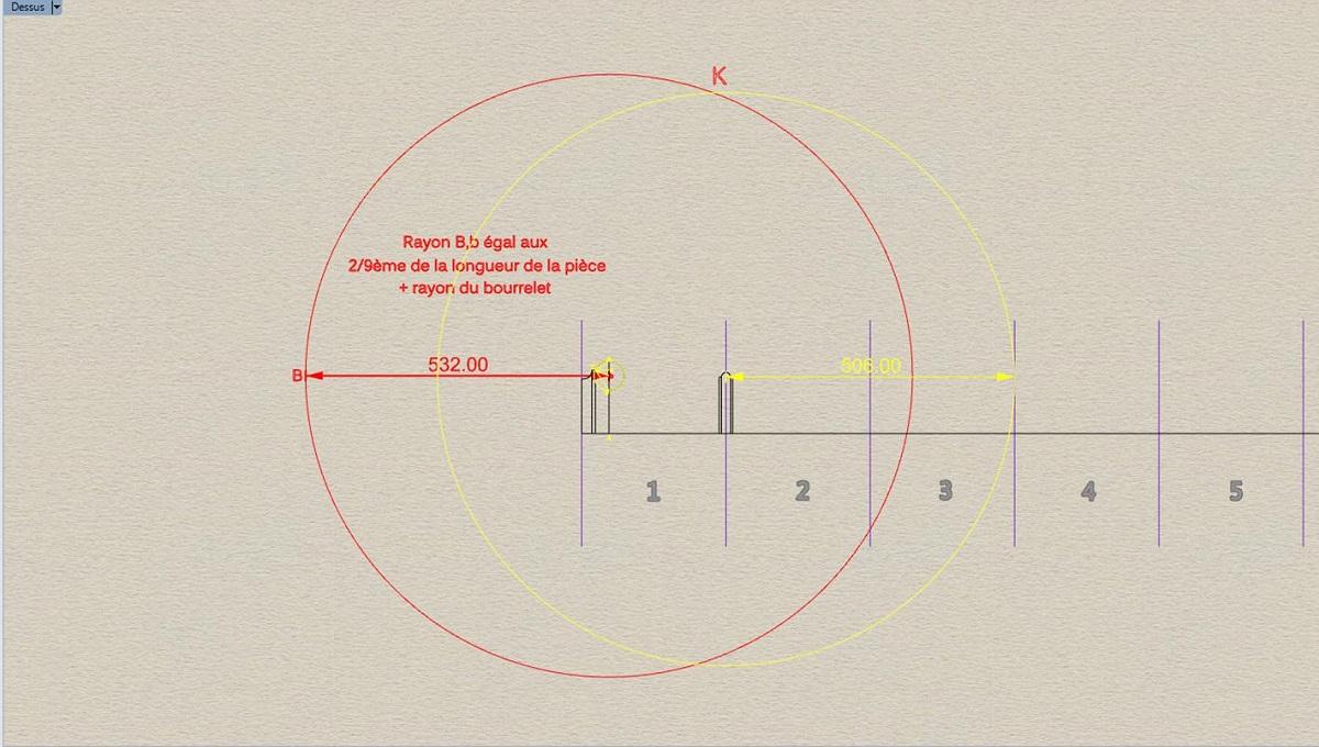 Etude et tracé d'un canon de fer selon Jean Maritz - Période 1733 à 1766 Ax_col10