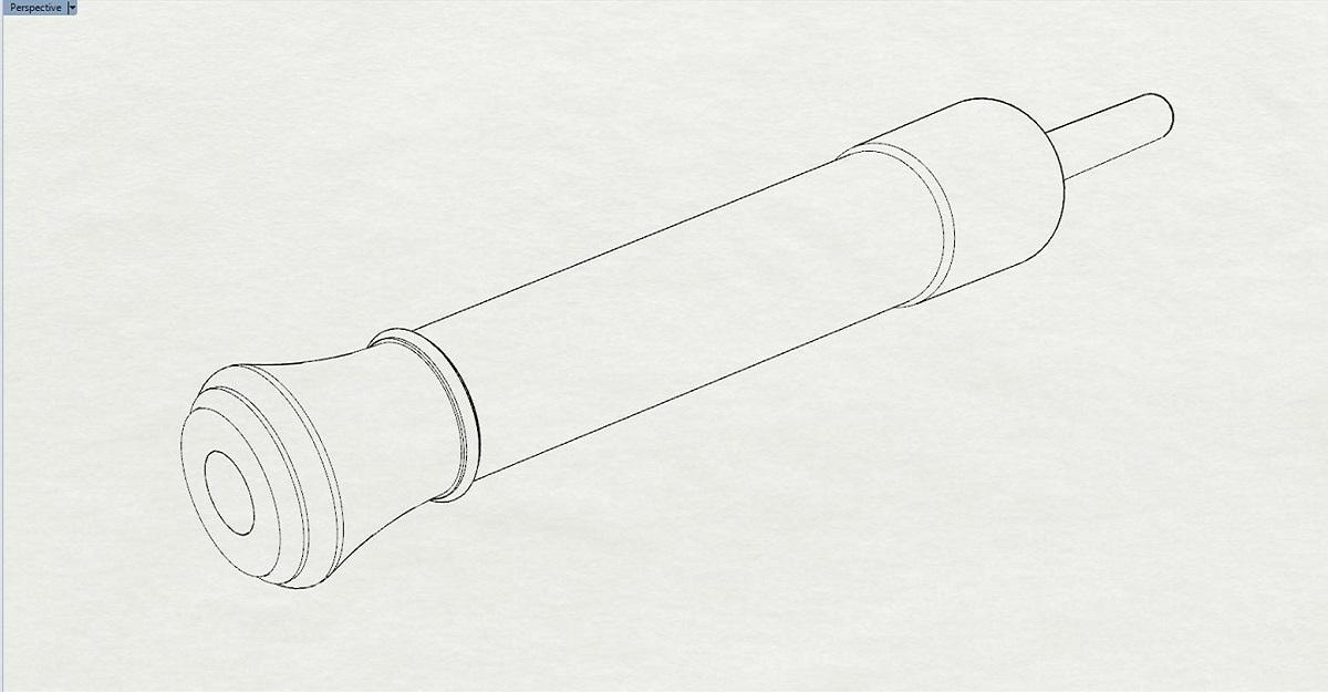 Etude et tracé d'un canon de fer selon Jean Maritz - Période 1733 à 1766 Bo_des10