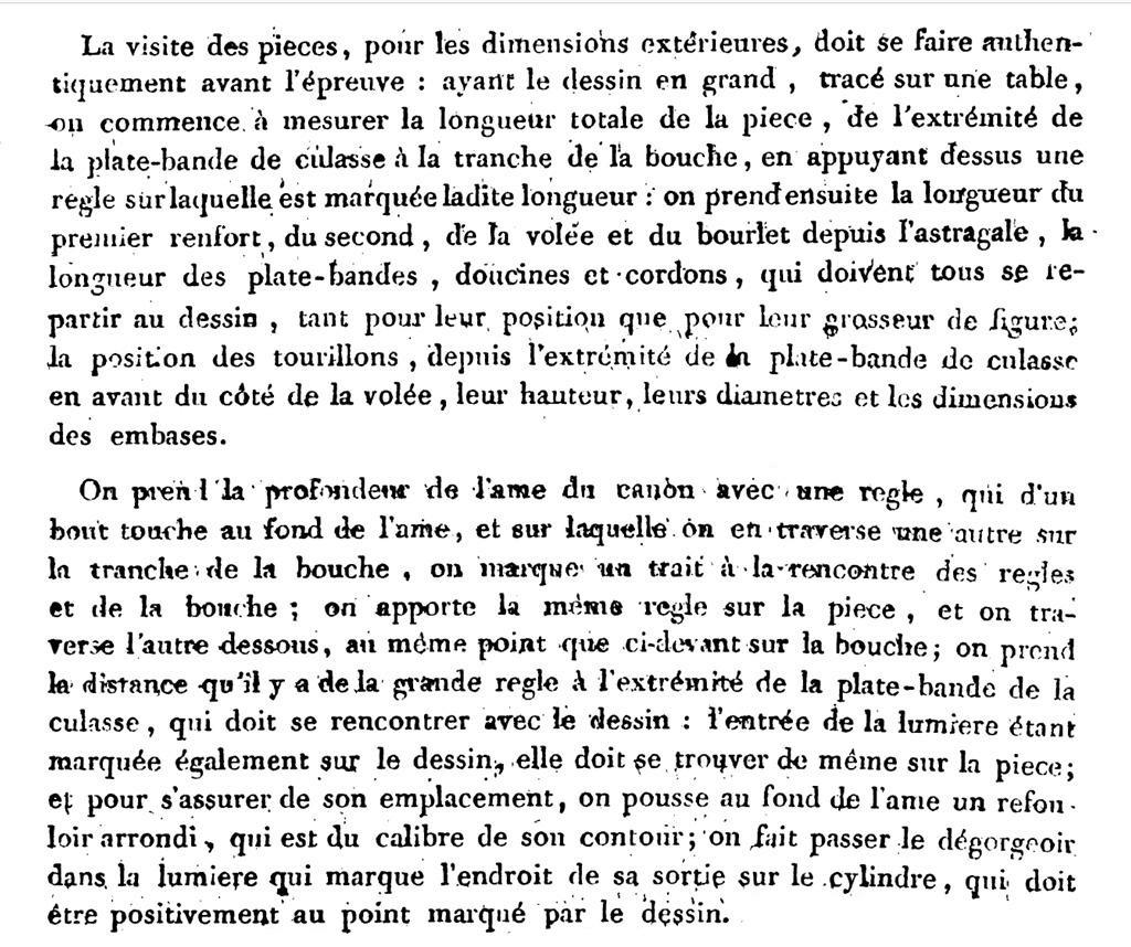 Etude et tracé d'un canon de fer selon Jean Maritz - Période 1733 à 1766 - Page 3 Dessin10