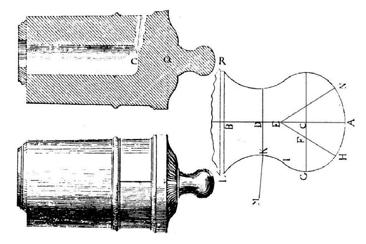 Etude et tracé d'un canon de fer selon Jean Maritz - Période 1733 à 1766 - Page 2 Df_bou11