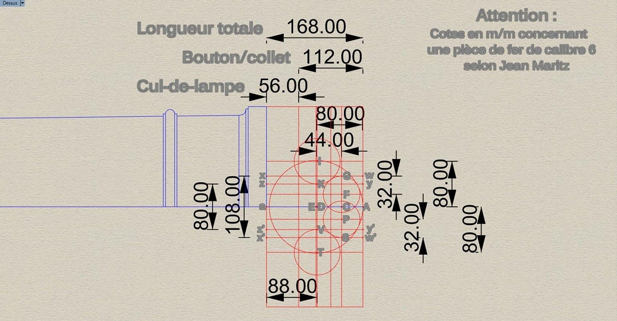 Etude et tracé d'un canon de fer selon Jean Maritz - Période 1733 à 1766 - Page 2 Dm_bou11