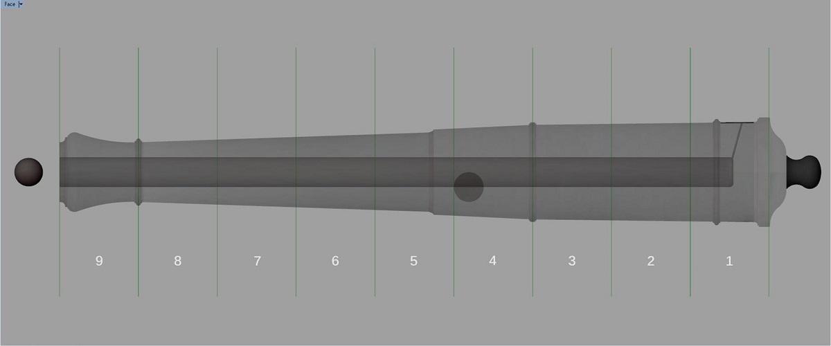 Etude et tracé d'un canon de fer selon Jean Maritz - Période 1733 à 1766 - Page 3 Fs_syn10