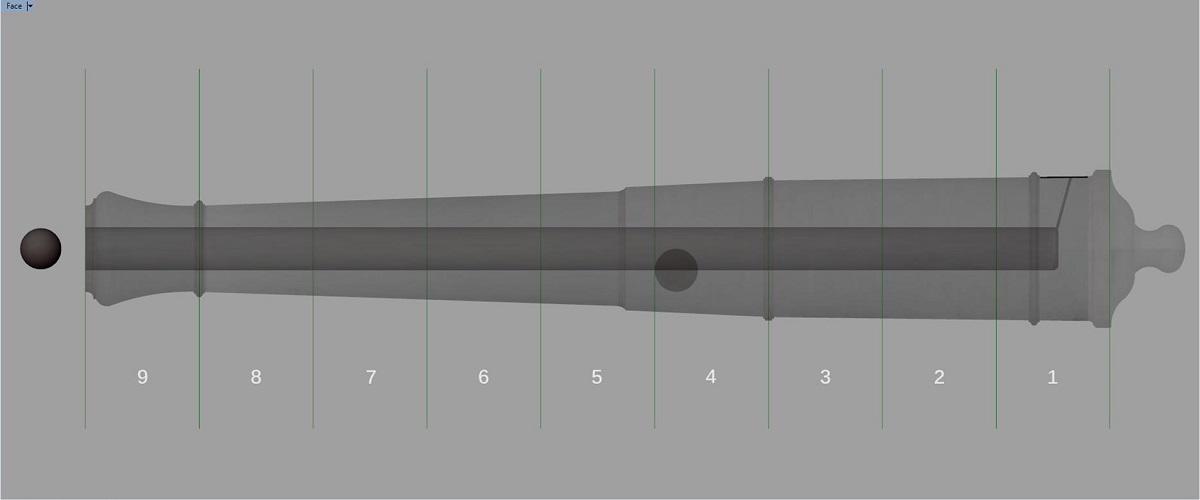 Etude et tracé d'un canon de fer selon Jean Maritz - Période 1733 à 1766 - Page 3 Ga_syn10