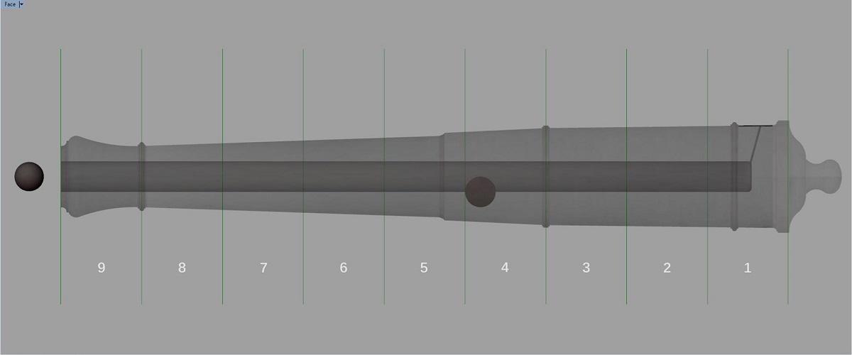 Etude et tracé d'un canon de fer selon Jean Maritz - Période 1733 à 1766 - Page 4 Gi_syn10