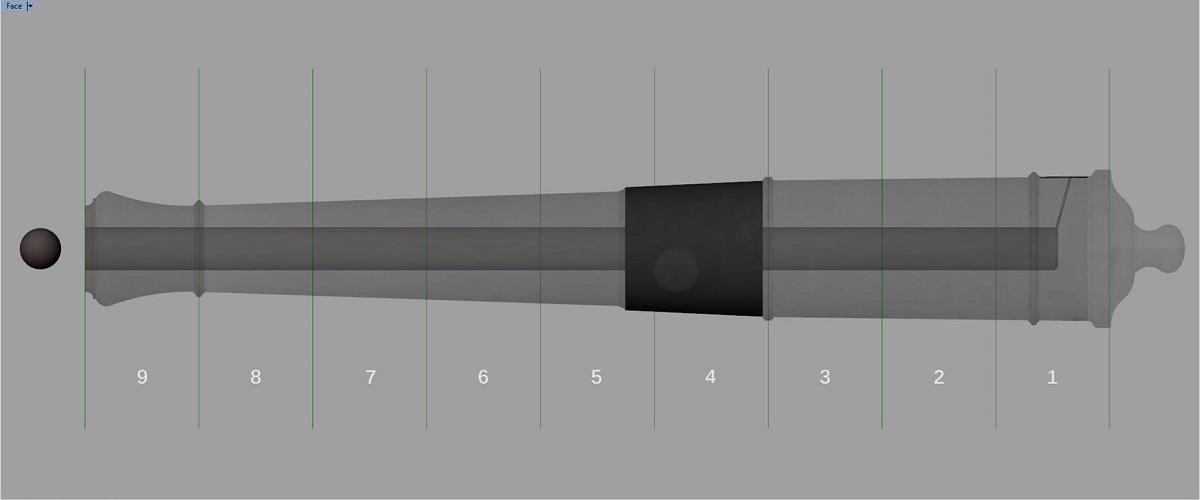 Canon de fer - Calibre 6 - Période 1733 à 1766 Gk_syn10