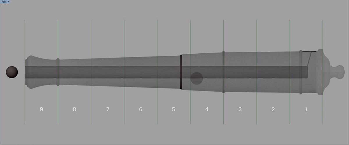 Etude et tracé d'un canon de fer selon Jean Maritz - Période 1733 à 1766 - Page 4 Gm_syn10