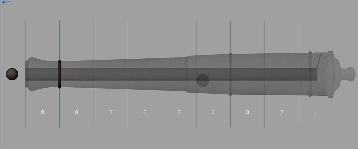 Canon de fer - Calibre 6 - Période 1733 à 1766 Gq_syn10