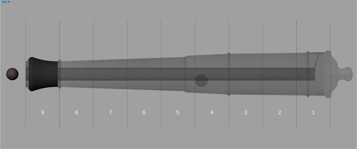 Etude et tracé d'un canon de fer selon Jean Maritz - Période 1733 à 1766 - Page 4 Gs_syn10
