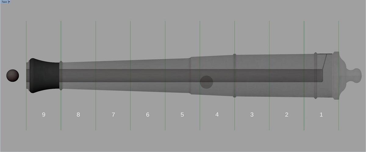 Canon de fer - Calibre 6 - Période 1733 à 1766 Gs_syn10