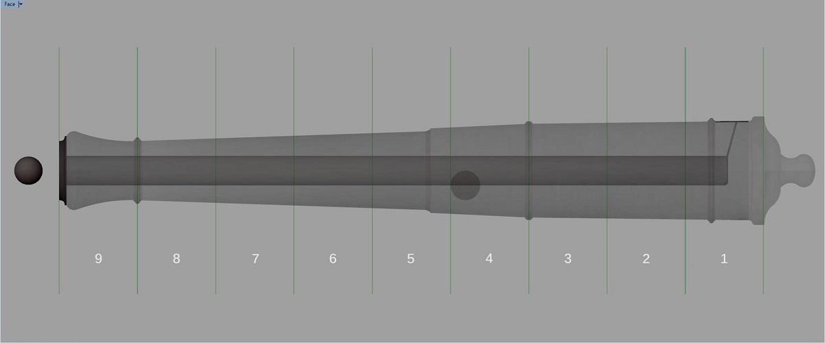 Etude et tracé d'un canon de fer selon Jean Maritz - Période 1733 à 1766 - Page 4 Gu_syn10