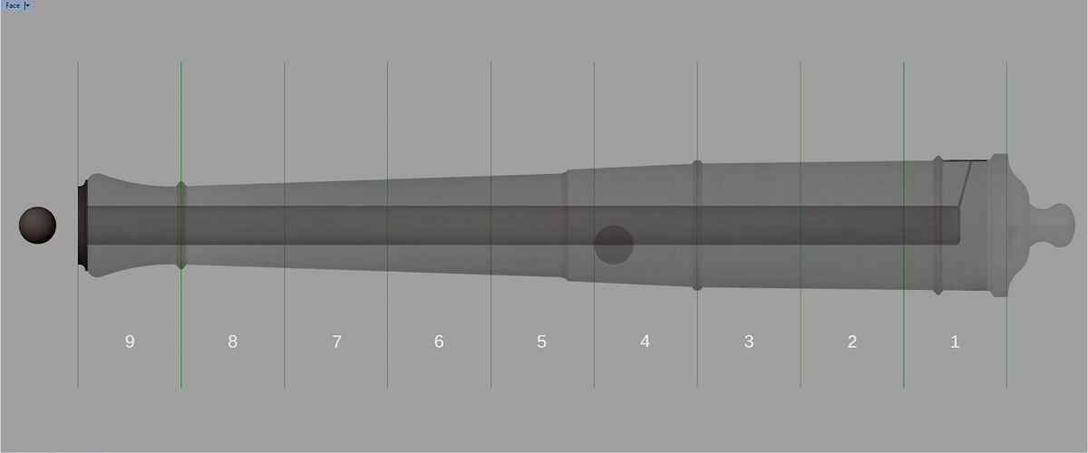 Canon de fer - Calibre 6 - Période 1733 à 1766 Gu_syn10