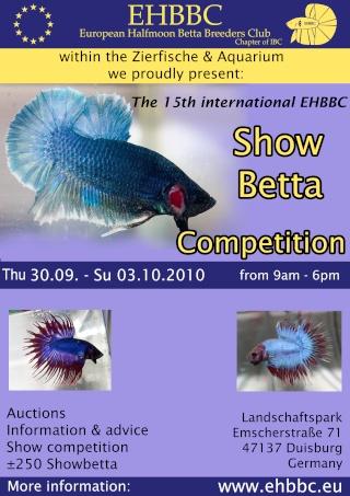 15th Int. EHBBC Showbetta Competition, 30.9.-3.10. Duisburg Duisbu15