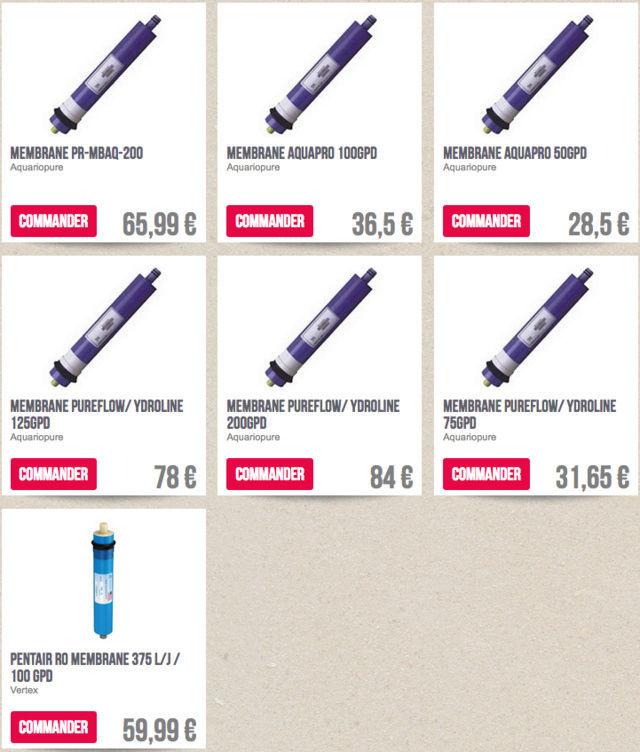 Osmoseur Aquili Triple filtre Captu261