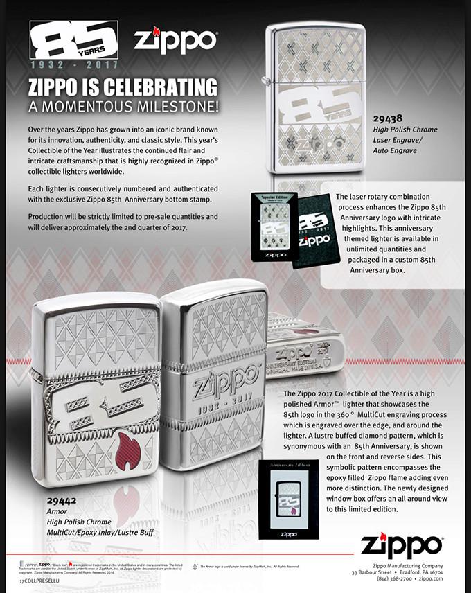 85 years : Zippo anniversary 1932-2017 85than10