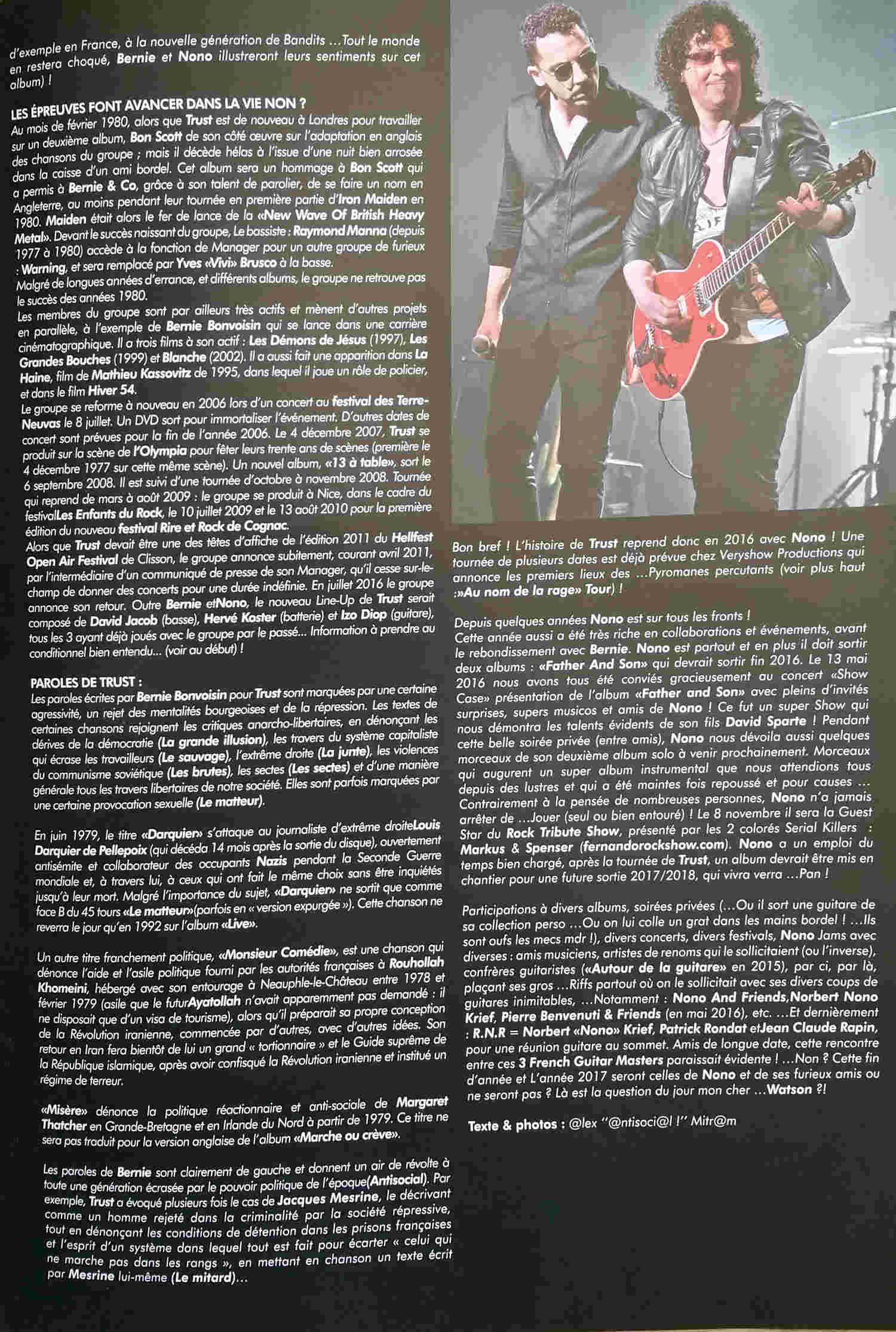 Interview TRUST dans le MAG TV Rock Live Novembre 2016 ... 0410