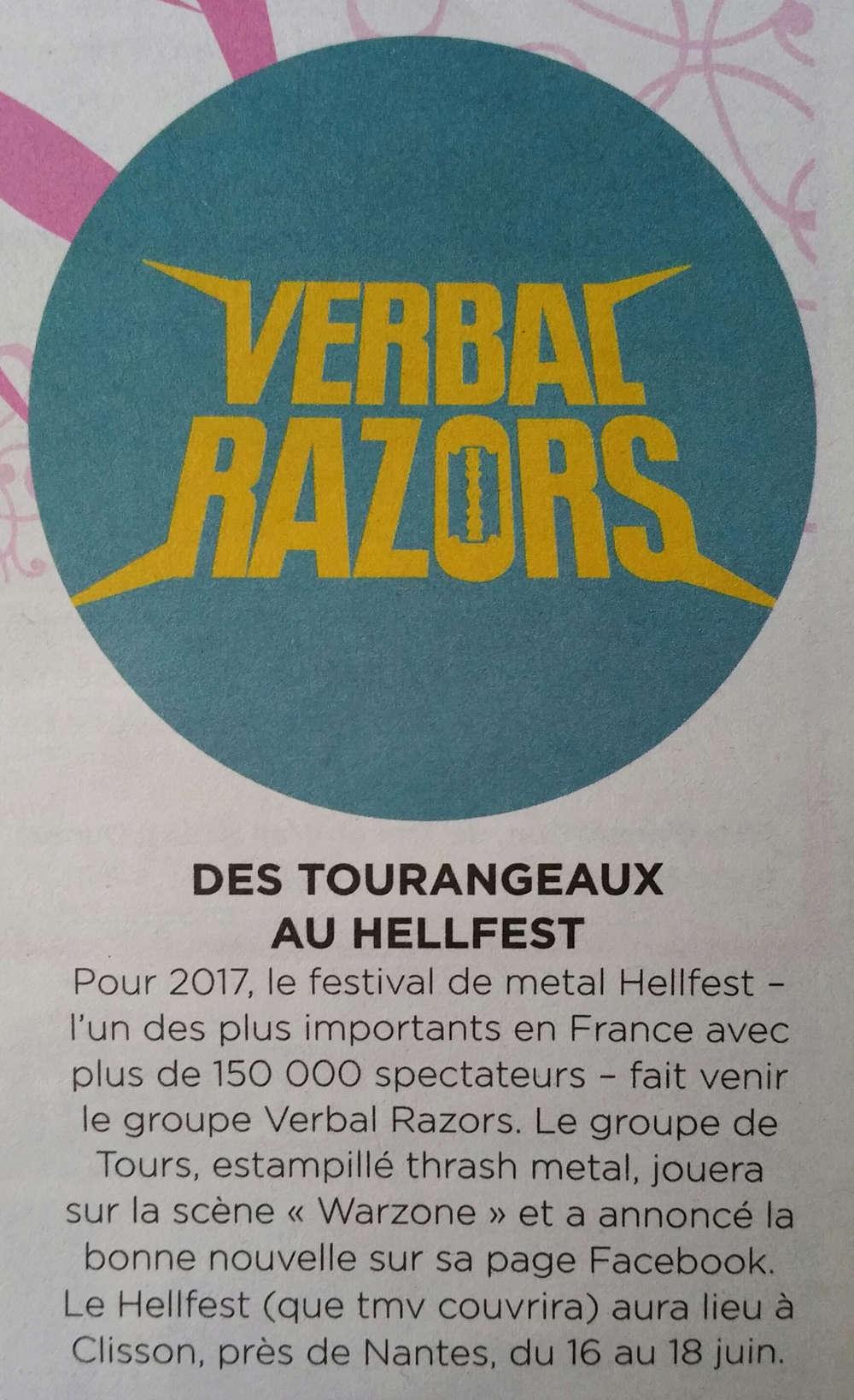 VERBAL RAZORS au HELLFEST 2017 ... 20161227