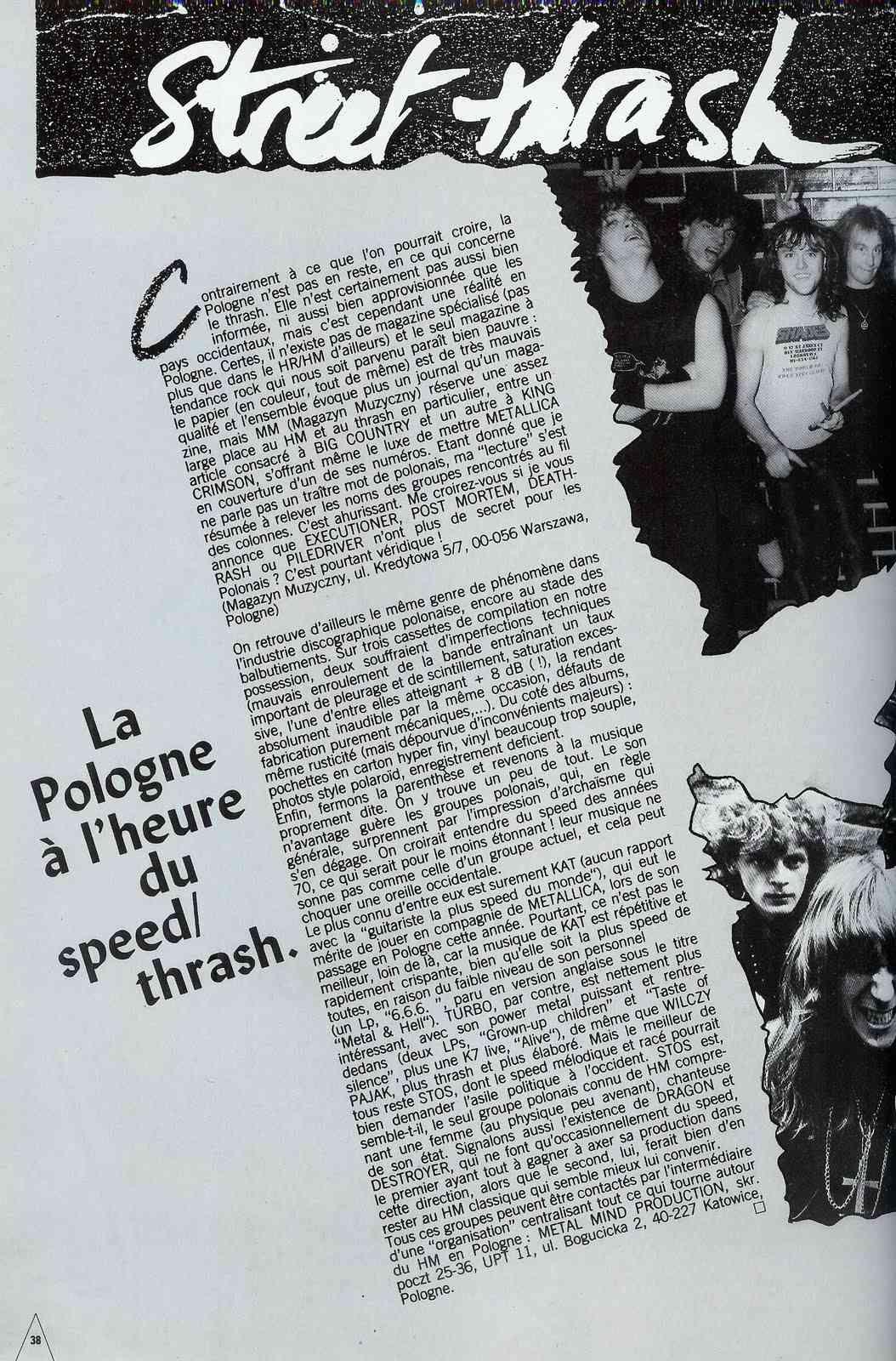 La POLOGNE à l'heure du Speed/Thrash (article Hard Force Janvier 1988) Hard_f10