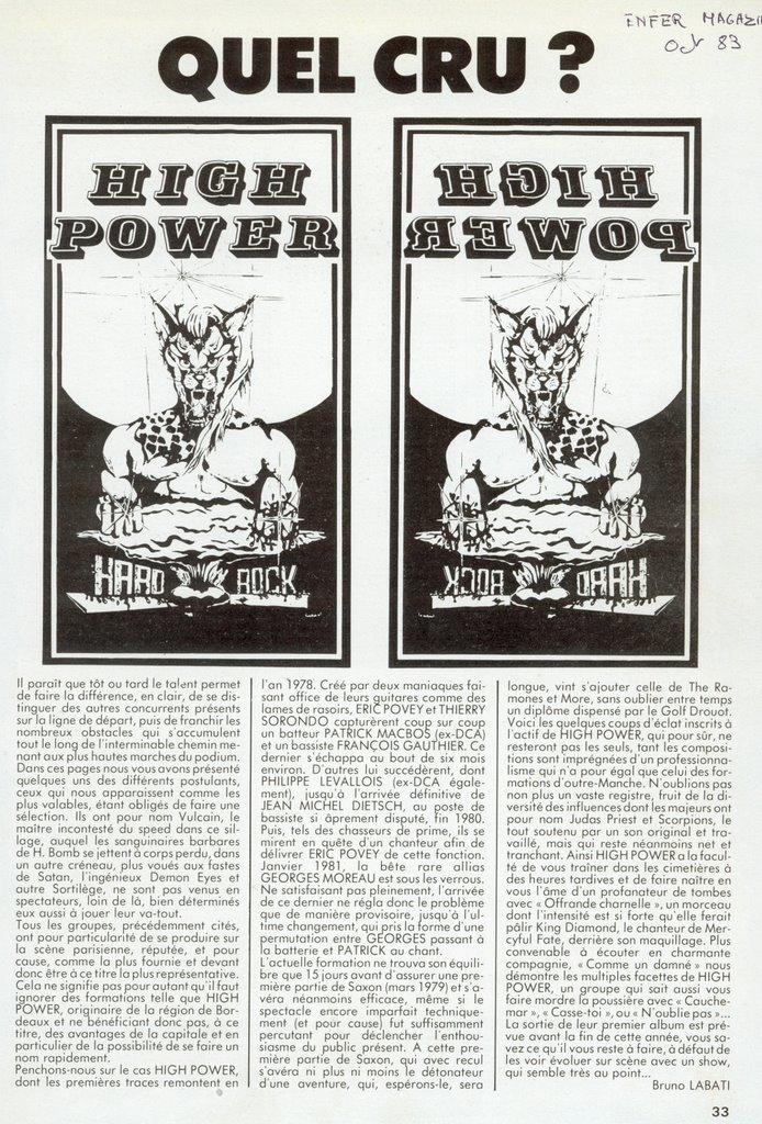 HIGH POWER article ancien ... (Enfer Mag Octobre 1983) High_p12