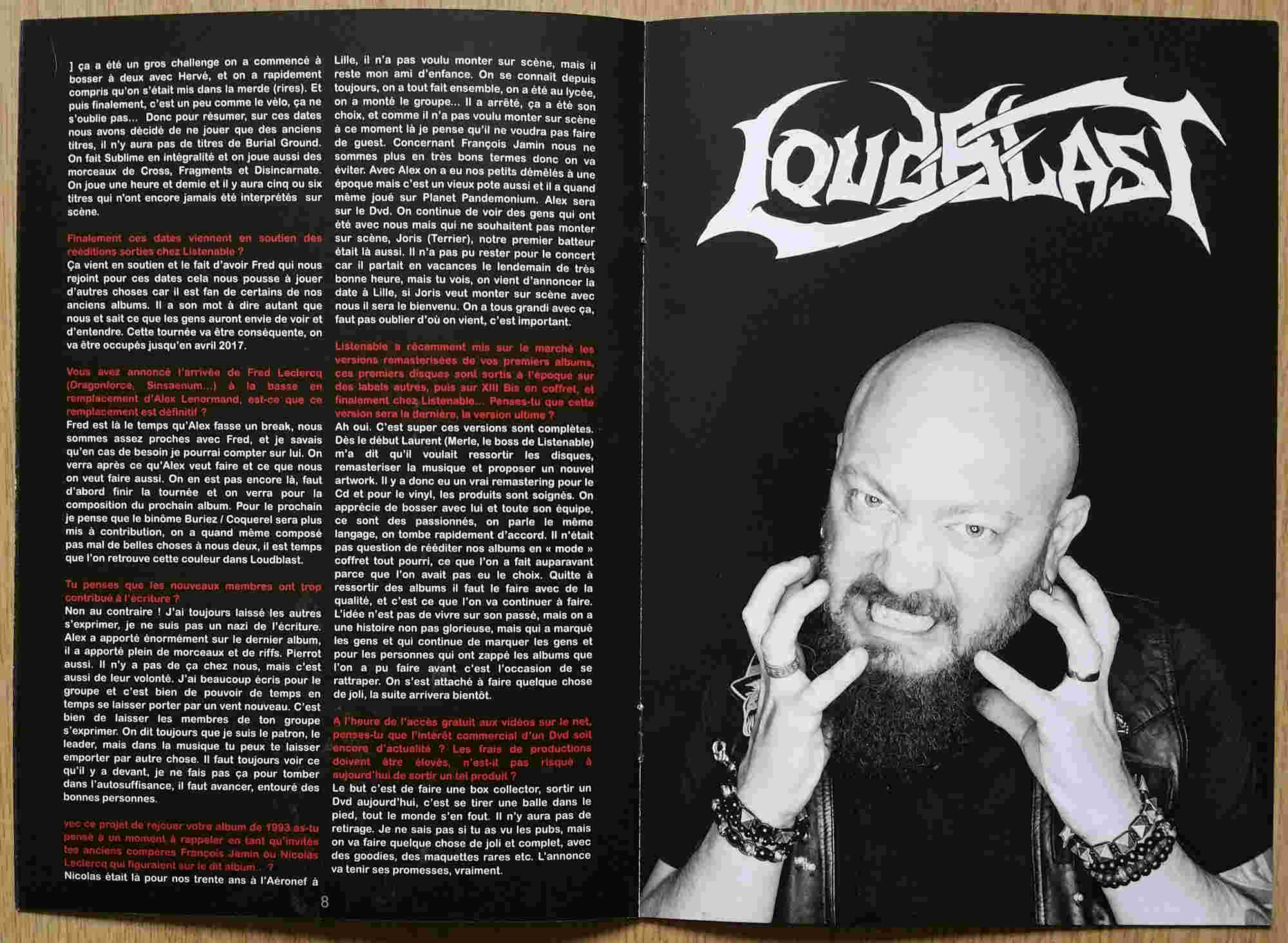 "Interview LOUDBLAST dans le Zine ""Music Eye"" 2017 Loudbl12"