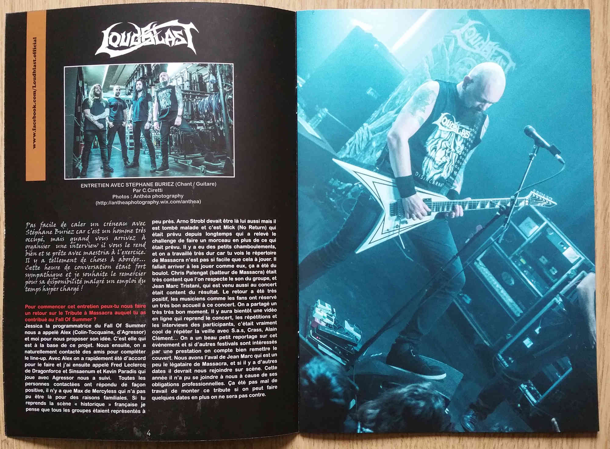 "Interview LOUDBLAST dans le Zine ""Music Eye"" 2017 Loudbl13"