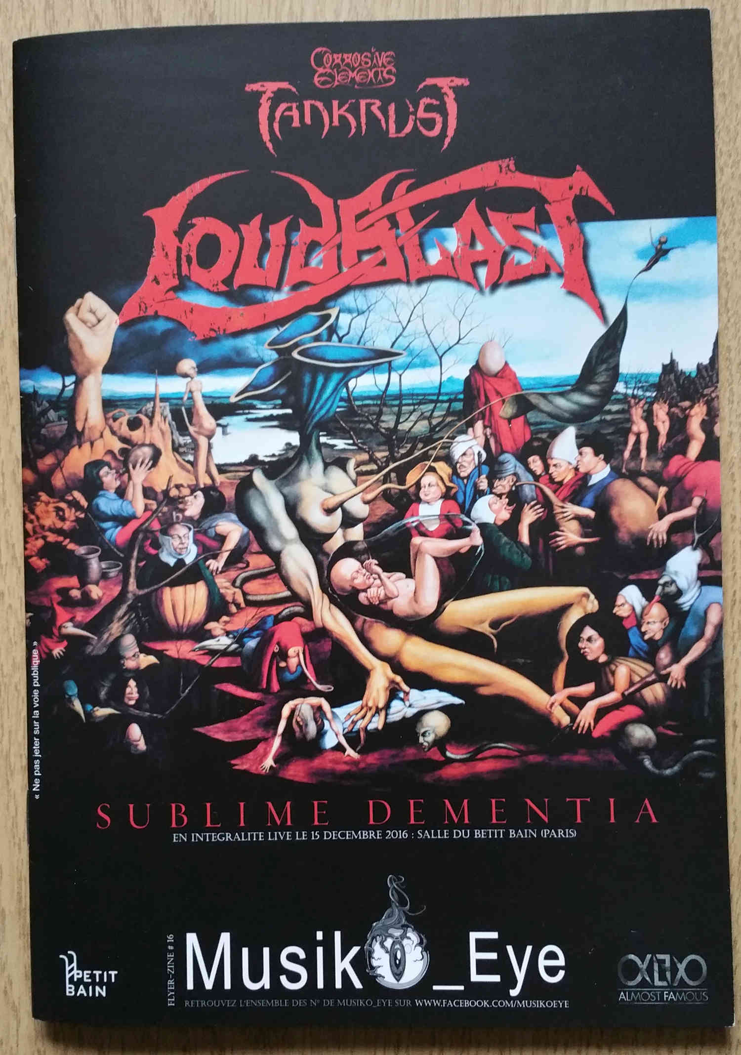 "Interview LOUDBLAST dans le Zine ""Music Eye"" 2017 Loudbl14"