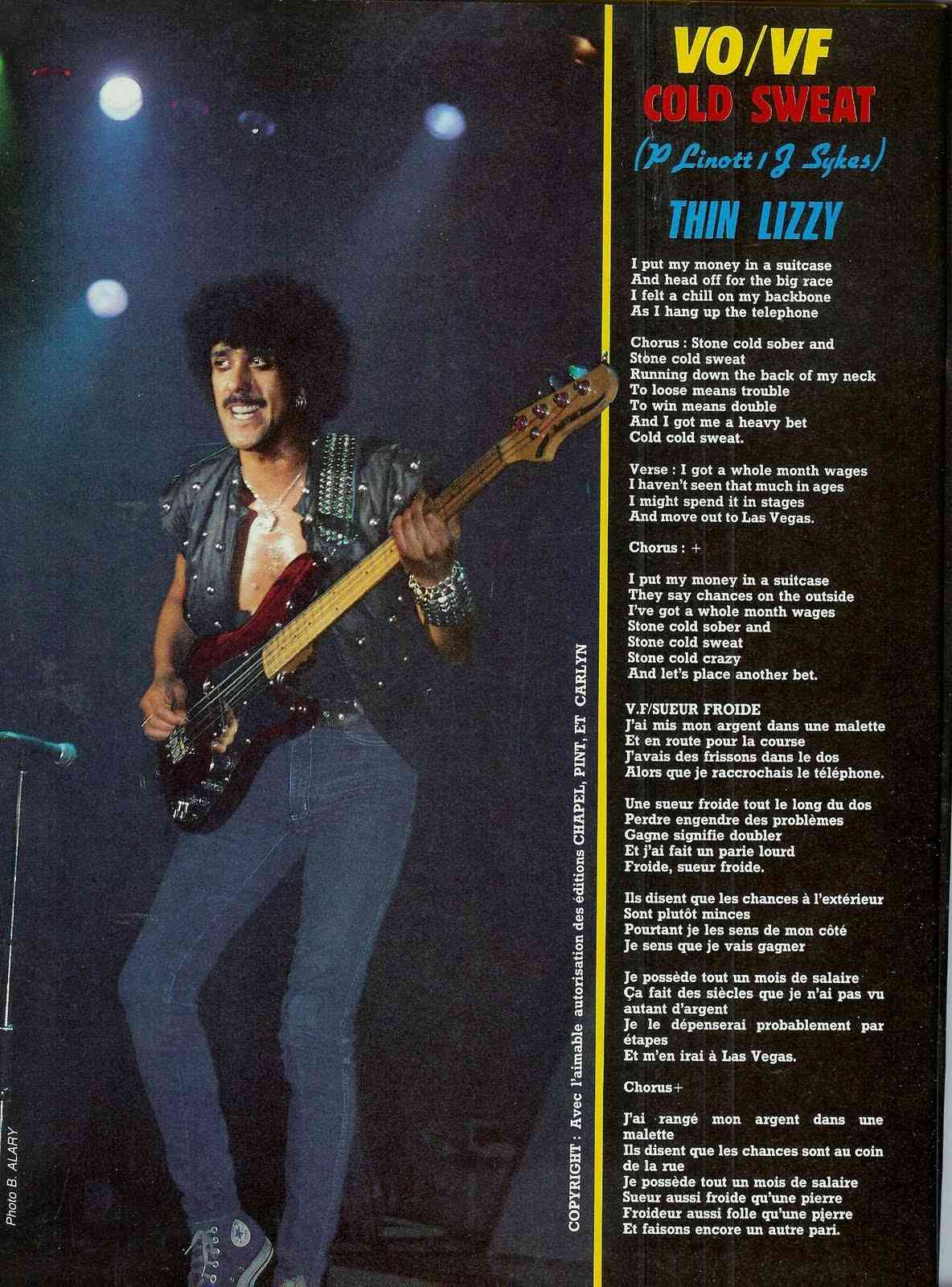 THIN LIZZY Cold Sweet (Sueur froide) (1983) Scan0010