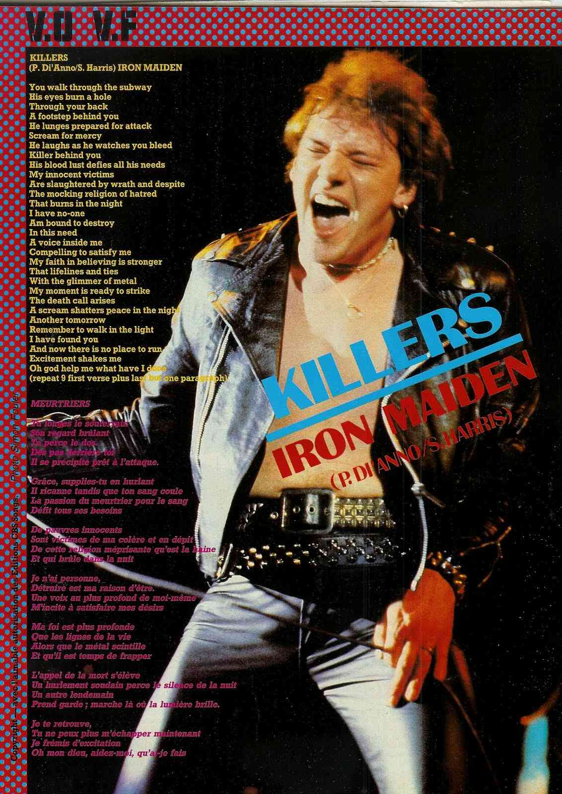 IRON MAIDEN Killers (Meurtriers) (1981)  Scan0013