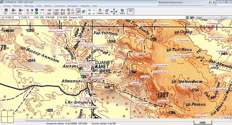 oziexplorer - OziExplorer et ses liaisons cartographiques Djanet10